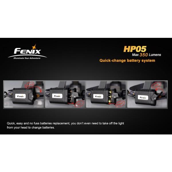 Lanterna LED frontala Fenix HP05 gri