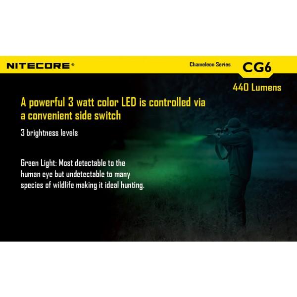 lanterna LED profesionala nitecore chameleon CG6