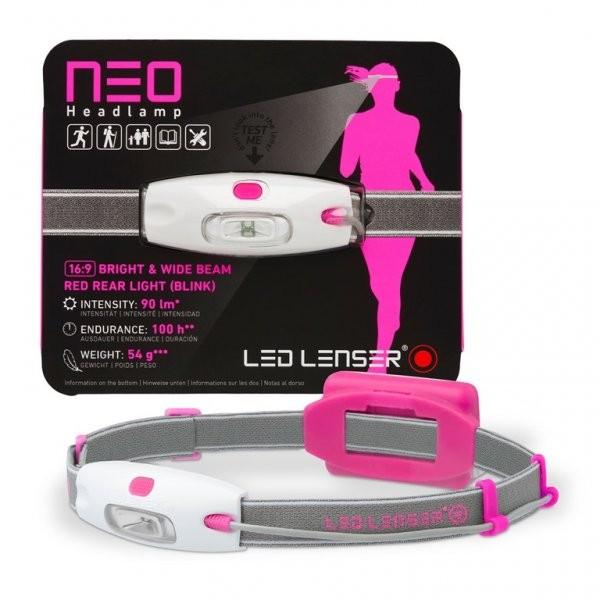 Lanterna frontala LED Lenser NEO roz