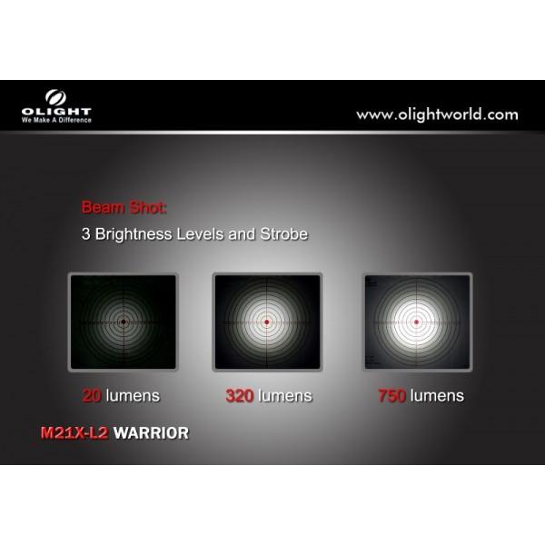 Lanterna profesionala Olight M21-X L2 Warrior 750 lumeni