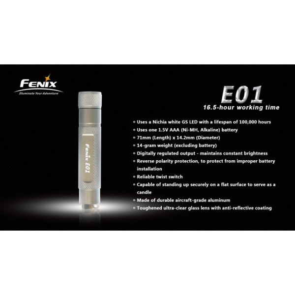Lanterna LED Fenix E01