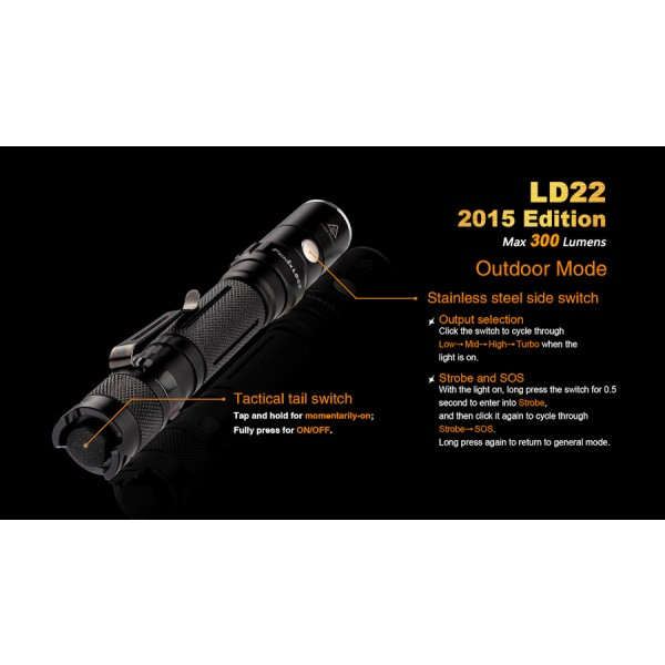 Lanterna LED Fenix LD22 XP-G2 Varianta 2015 (300 lumeni)