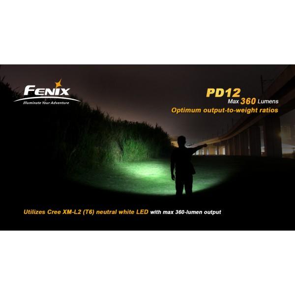 Lanterna LED Fenix PD12 360 lumeni