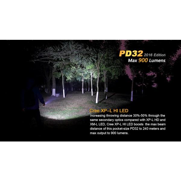 Lanterna LED Fenix PD32 Versiune 2016