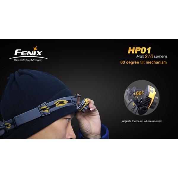 Lanterna LED frontala Fenix HP01 (GRI)