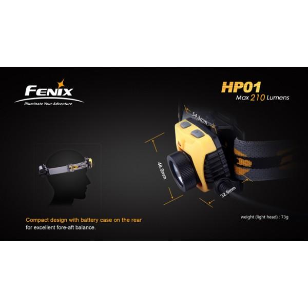 Lanterna LED frontala Fenix HP01