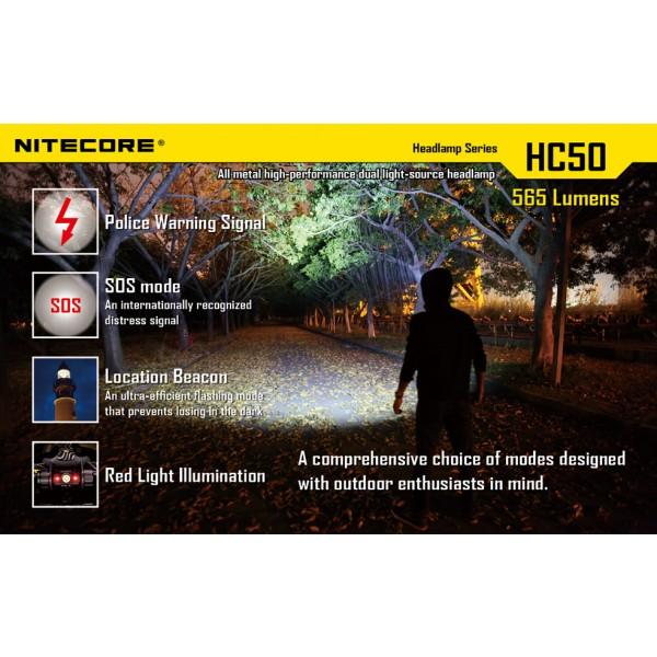 Lanterna LED frontala Nitecore HC50