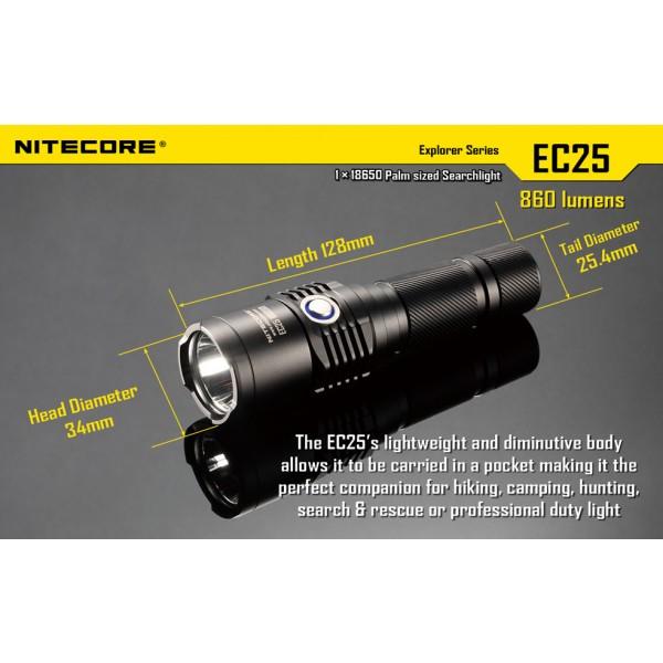 Lanterna LED Nitecore EC25 Cobra White