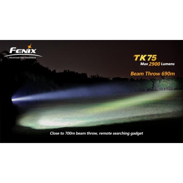 Lanterna LED profesionala Fenix TK75 3CREE XM-L2 (U2) 2900 lumeni