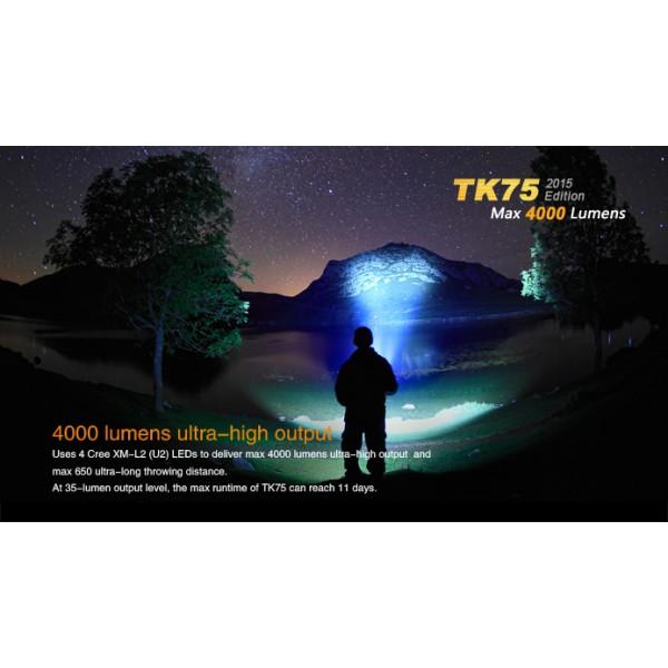 Lanterna LED profesionala Fenix TK75 Versiune 2015