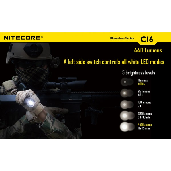 lanterna LED profesionala nitecore chameleon CI6