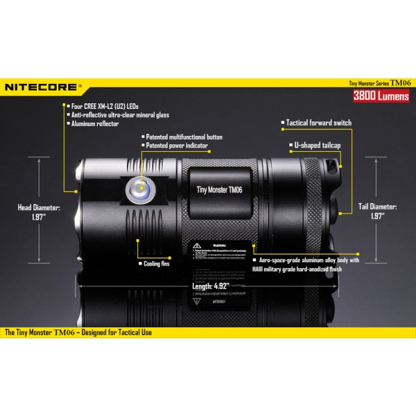 Lanterna LED Profesionala Nitecore TM06