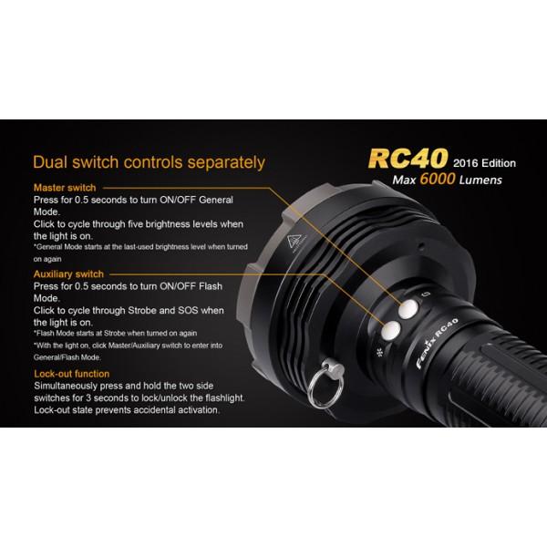 Lanterna LED reincarcabila Fenix RC40 versiune 2016