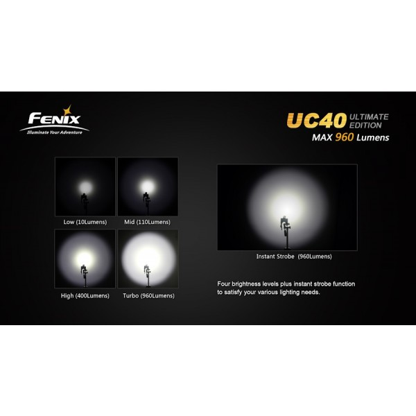 lanterna led reincarcabila Fenix UC40 UE