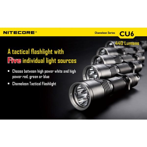 lanterna LED profesionala nitecore chameleon CU6