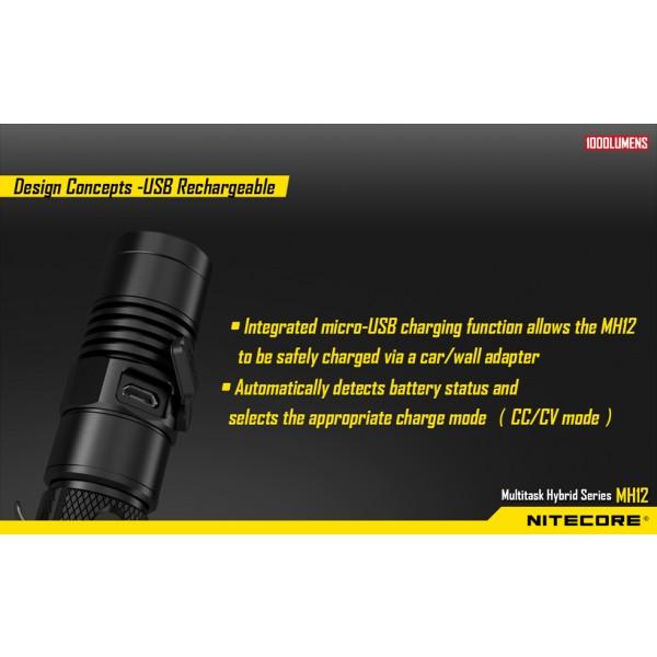 Nitecore MH12W, Lanternă Led #2