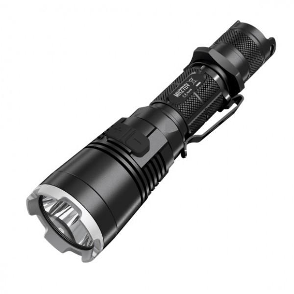 Nitecore MH27UV, Kit Lanterna Vanatoare, Led Alb 1000 Lumeni, 462 Metri, Led UV 500mW, 365nm, Led Rosu-Albastru