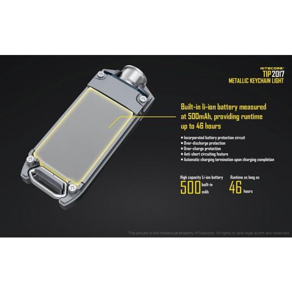 Nitecore Tip 2017 Argintie, Lanternă Led
