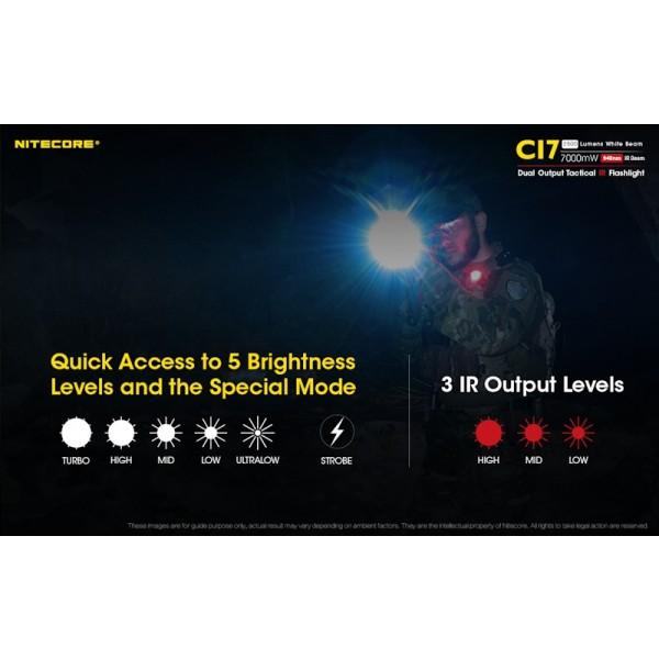 Nitecore CI7, Lanterna LED