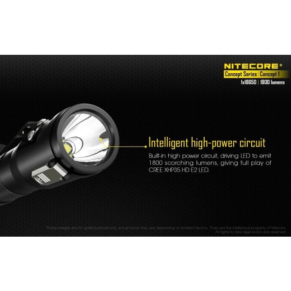 Nitecore Concept 1, Lanterna Led