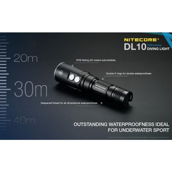 Nitecore DL10, Lanternă Led