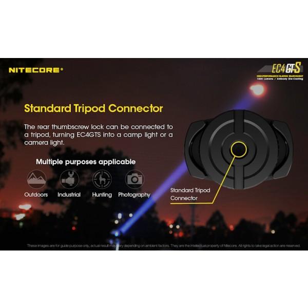 Nitecore EC4GTS, Lanternă Led