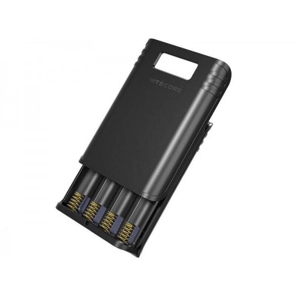 Nitecore F4, Încărcător Digital, Powerbank, USB, 4 Acumulatori
