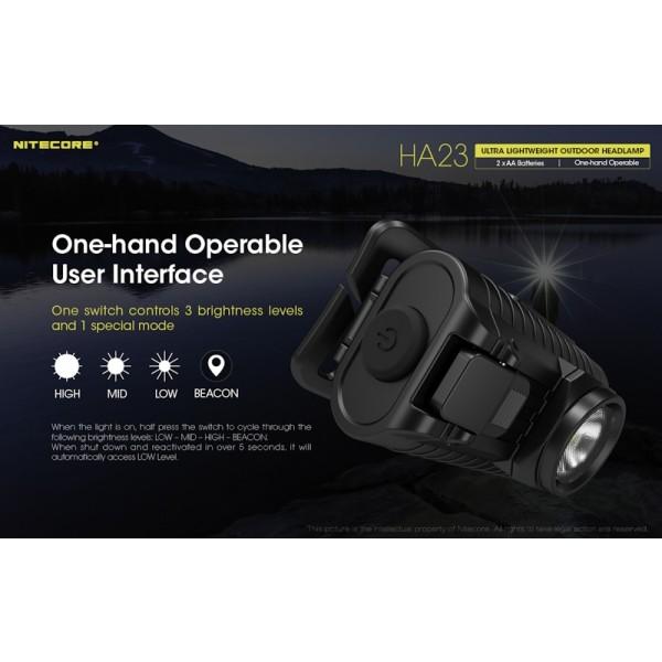 Nitecore HA23, Lanterna Frontala