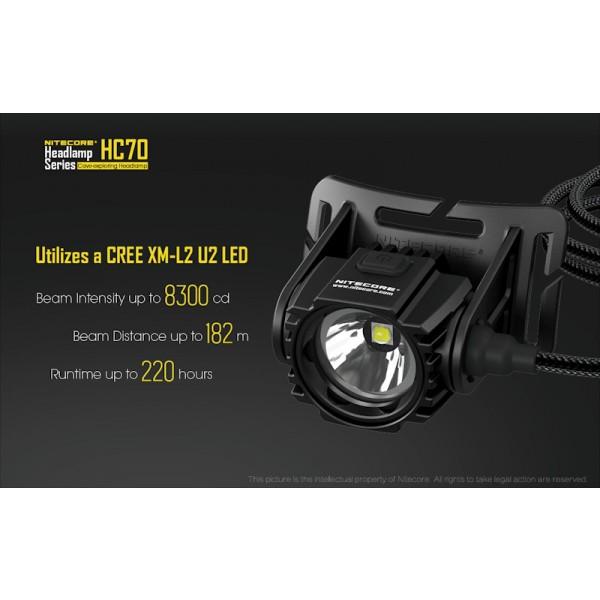 Nitecore HC70, Lanternă Frontală