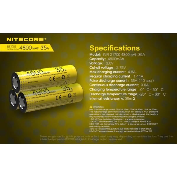 Nitecore INR 21700, Acumulator Li-Ion