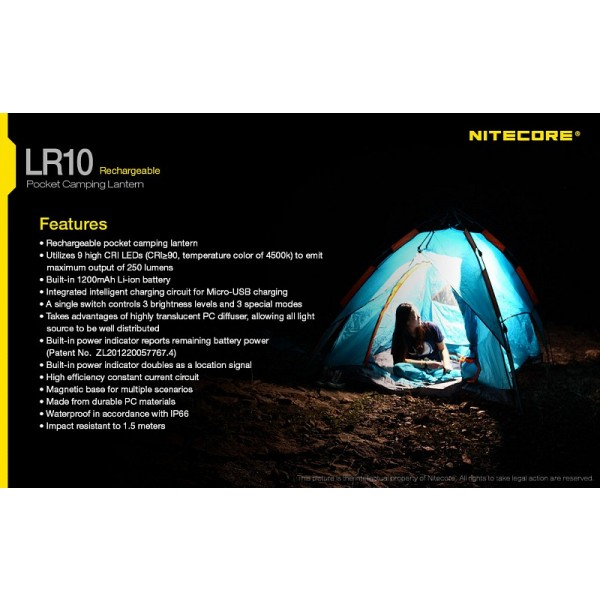 Nitecore Lr10 Lanternă Camping Easylight Romania