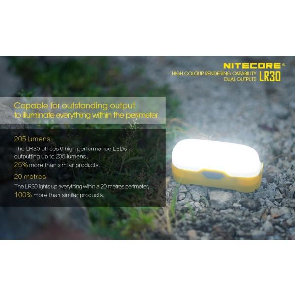 Nitecore LR30 Galbenă, Lanterna Led