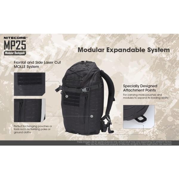 Nitecore M25, Rucsac Modular#