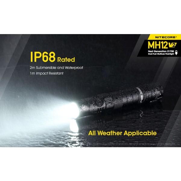 Nitecore MH12 V2, lanterna Led, Reincarcabila USB-C
