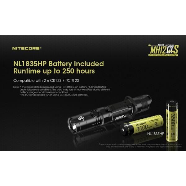 Nitecore MH12GTS, Lanterna Led