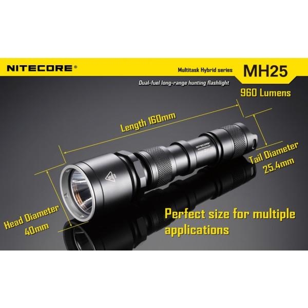 Nitecore MH25 versiune 2015 (Reîncărcabilă USB) 960 lumeni