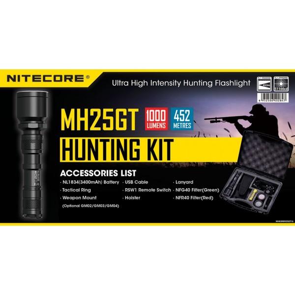 Nitecore MH25GT kit de vânătoare