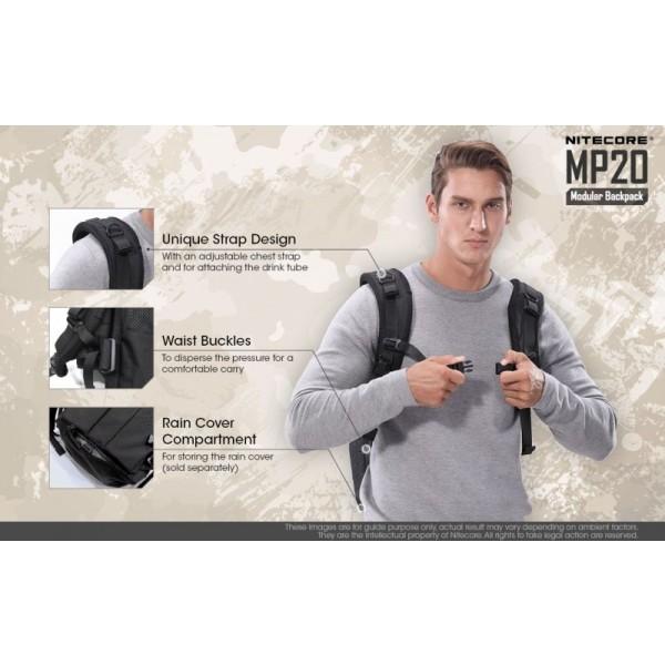 Nitecore MP20, Rucsac Modular, 20 Litri