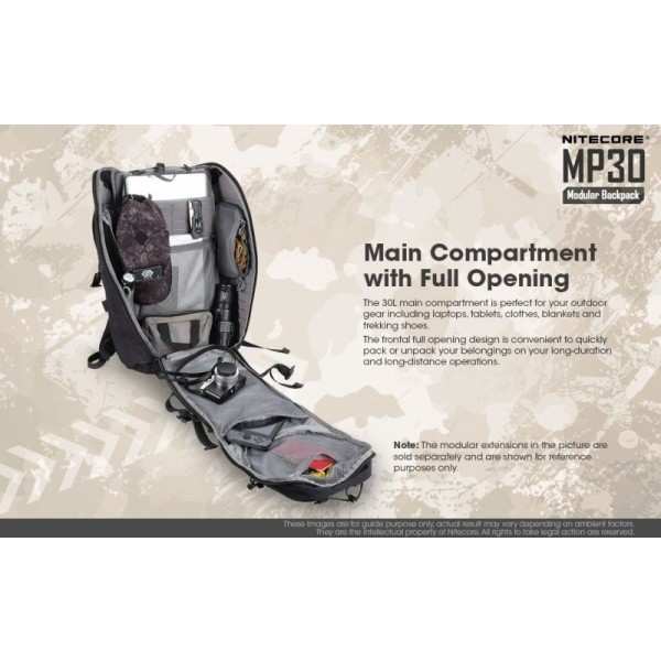 Nitecore MP30, Rucsac Modular, 30 Litri