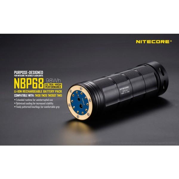 Acumulator Nitecore NBP68 pentru Nitecore seria TM
