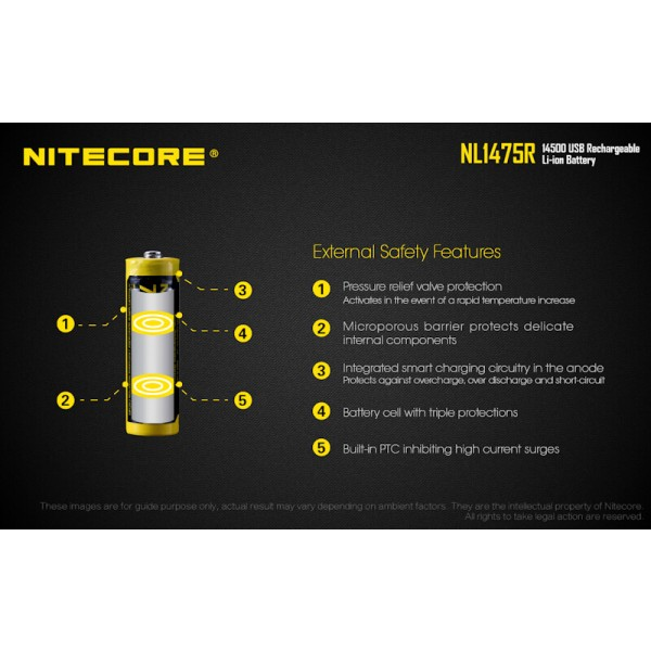 Nitecore NL1475R, Acumulator 14500