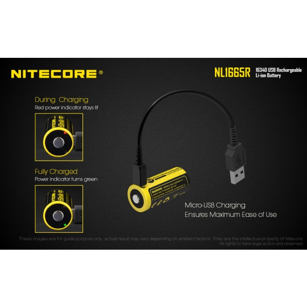 Nitecore NL1665R, Acumulator 16340