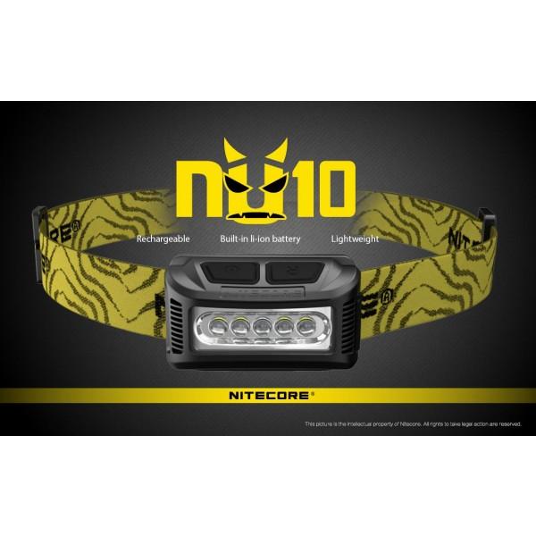 Nitecore NU10 Galbenă, Lanternă Frontală