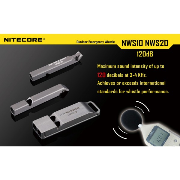 Fluier de supravietuire Nitecore NWS 10