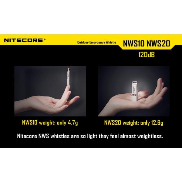 Fluier de supravietuire Nitecore NWS 20