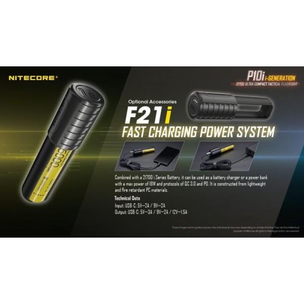 Nitecore P10i, Lanternă Reîncărcabilă USB-C, 1800 Lumeni, 290 Metri