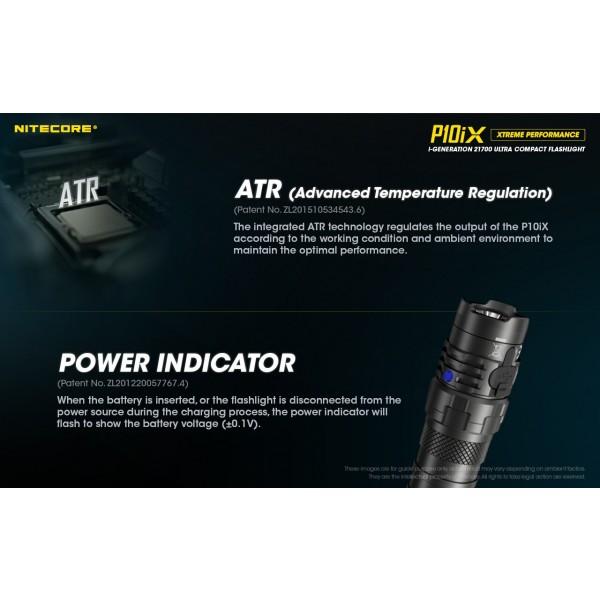 Nitecore P10iX, Lanternă Profesionala, Reîncărcabilă USB-C, 4000 Lumeni, 158 Metri