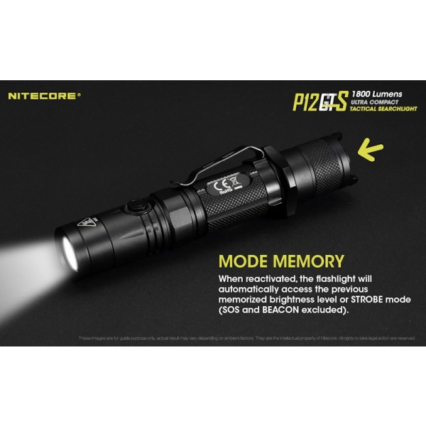 Nitecore P12GTS, Lanternă Led