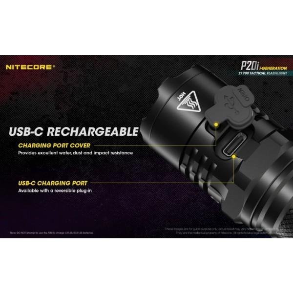 Nitecore P20i, Lanternă Profesională, Reincarcabila USB-C, 1800 Lumeni, 343 Metri