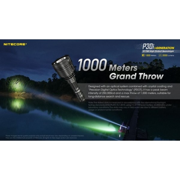 Nitecore P30i, Lanterna Profesionala, Reincarcabila USB-C, 2000 Lumeni, 1000 Metri, www.easylight.ro 9